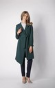 Coat with Frill Sleeves in Green by By Ooh La La