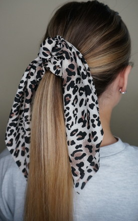 Leopard Print Scrunchie with Scarf by EPITOME JEWELLERY