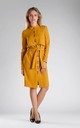 Layered Long Sleeve Dress in Yellow by By Ooh La La