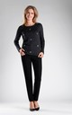 Black Jumper with Silver Eyelet Detail by By Ooh La La
