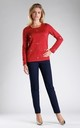 Red Jumper with Silver Eyelet Detail by By Ooh La La