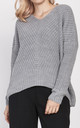 Loose Fit V Neck Jumper in grey by Lanti
