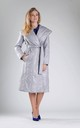 Padded Coat with Hood in Grey by By Ooh La La