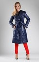 Padded Coat with Hood in Navy Blue by By Ooh La La