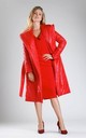 Padded Coat with Hood in Red by By Ooh La La