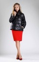 Black Padded Jacket with High Collar by By Ooh La La