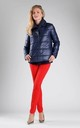Navy Padded Jacket with High Collar by By Ooh La La