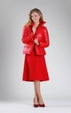 Red Padded Jacket with High Collar by By Ooh La La