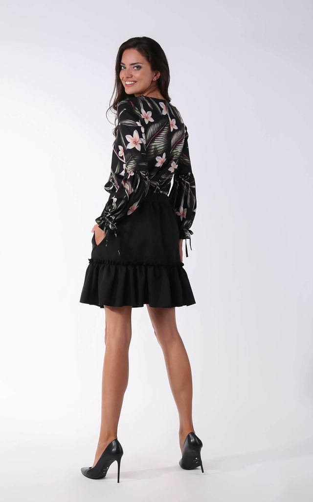 Mini Skirt with Pockets in Black by By Ooh La La