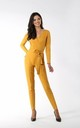 Jumpsuit with Wrap Front in Yellow by By Ooh La La
