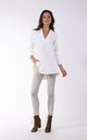 White Long Sleeve Blouse with V Neck by By Ooh La La