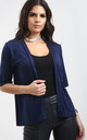 Jess Front Open Cardigan In Navy by Oops Fashion