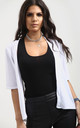 Jess Front Open Cardigan In White by Oops Fashion