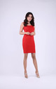 Cotton Sleeveless Mini Dress in Red by Bergamo