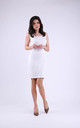 Cotton Sleeveless Mini Dress in White by Bergamo