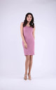 Cotton Sleeveless Mini Dress in Pink by Bergamo