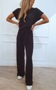Claude Ribbed Loungewear Jumpsuit - Black by Pretty Lavish