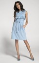 Sleeveless Mini Dress with Frill in Blue by By Ooh La La