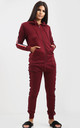 Kerry Wine Loungewear Set with Side Stripe by Oops Fashion