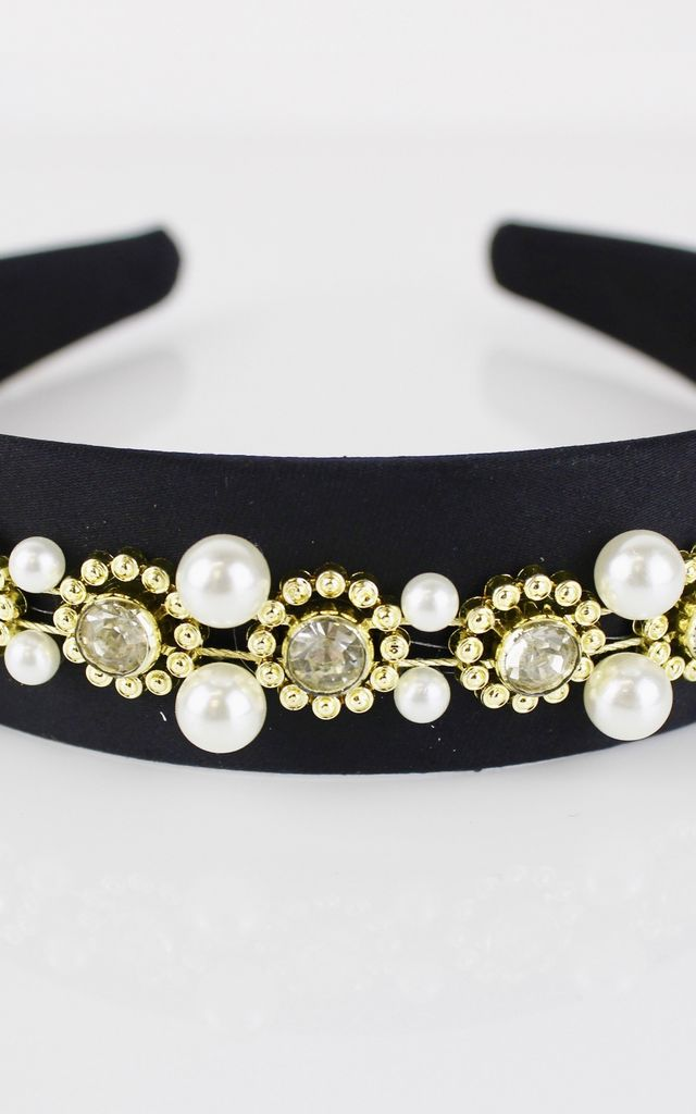 PEARL EMBELLISHED HEADBAND by SVNX