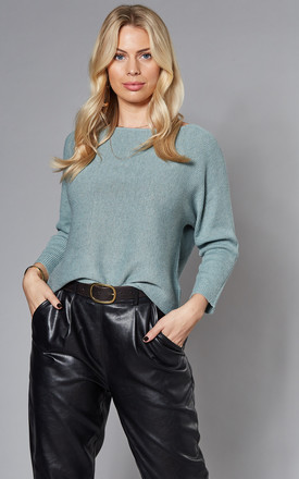 Boatneck Knitted Top In Green by VM Product photo