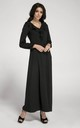 Long Sleeve Maxi Dress with Frills in Black by By Ooh La La