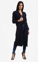 Jess Chunky Knitted Open Cardigan In Navy by Oops Fashion