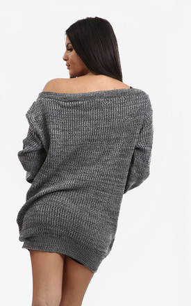 Grace Chunky Knit Jumper In Charcoal by Oops Fashion