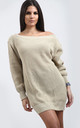Grace Chunky Knit Jumper In Stone by Oops Fashion