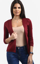 Eli Cropped Sleeve Blazer In Wine by Oops Fashion