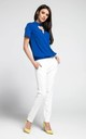 Blue Choker Top with Short Sleeves by By Ooh La La