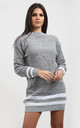 Jessica Striped Jumper In Grey by Oops Fashion
