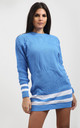 Jessica Striped Jumper In Blue by Oops Fashion