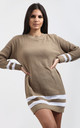Jessica Striped Jumper In Camel by Oops Fashion