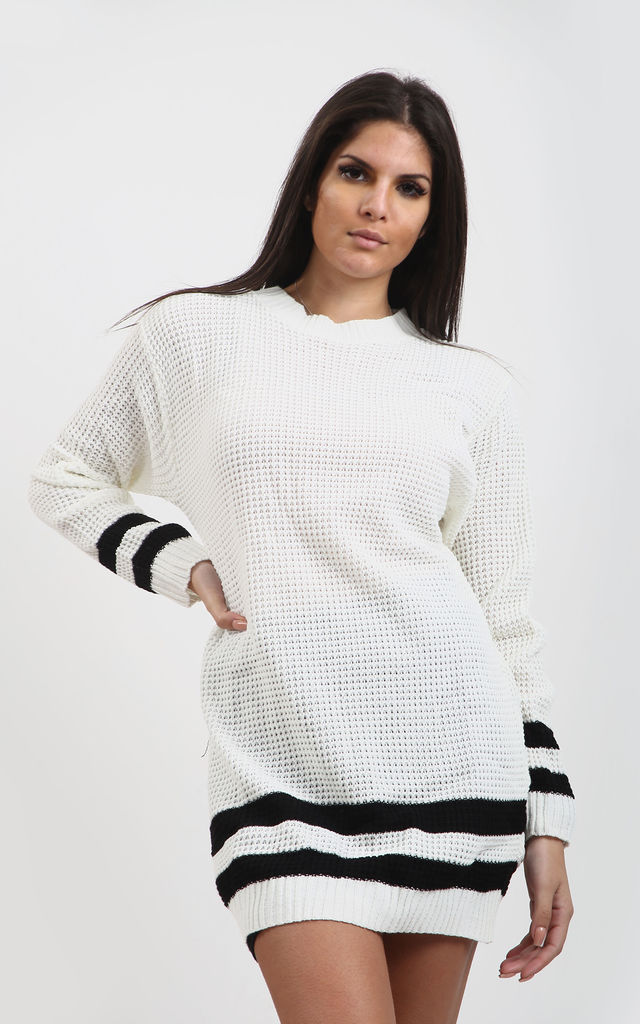 Jessica Striped Jumper In Cream by Oops Fashion