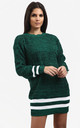 Jessica Striped Jumper In Green by Oops Fashion