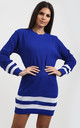 Jessica Striped Jumper In Royal Blue by Oops Fashion