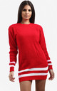Jessica Striped Jumper In Red by Oops Fashion
