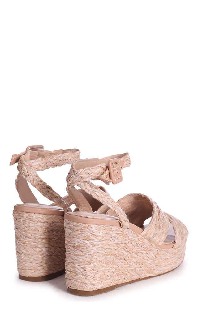 Honour All Over Raffia Wedges With Double Front Strap by Linzi