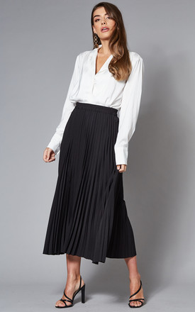 Midi Pleated Skirt In Black by Selected Femme Product photo