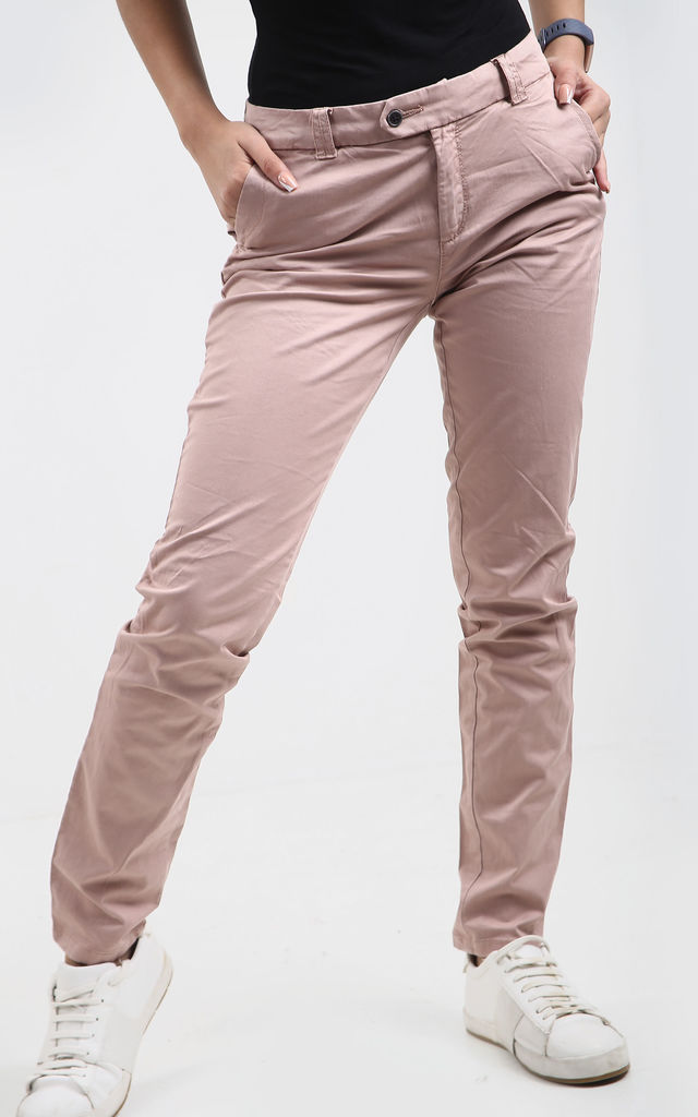 Rubi Skinny Fit Jeans in Rose by Oops Fashion