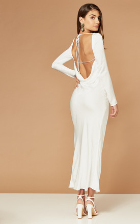 River Maxi Dress With Open Back In White by Bardot Product photo