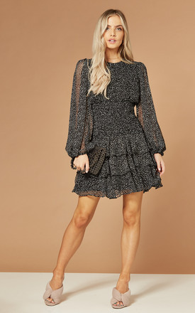 Elaina Mini Dress In Black Print by Bardot Product photo