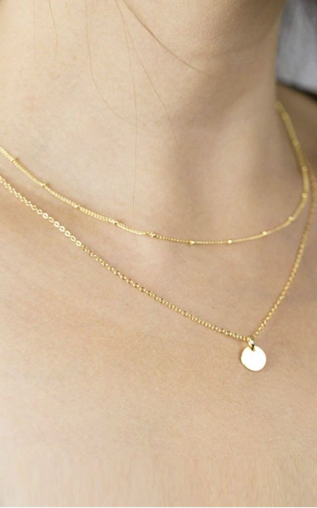 Double Layer Circle Necklace Gold by HAUS OF DECK