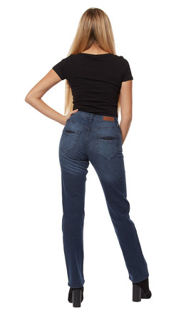 Aila Straight Mid denim jeans by Digbeth
