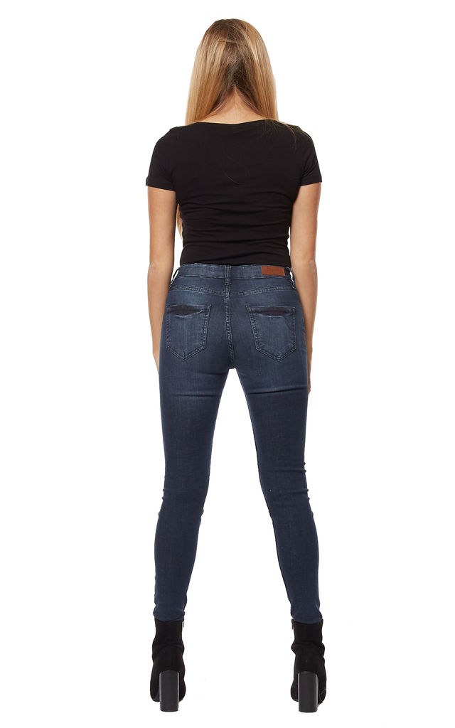 Samah Skinny Indigo denim jeans by Digbeth