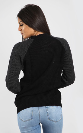 Amelia Baggy Knitted Jumper In Black by Oops Fashion