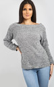 Alissia Off Shoulder Knitted Jumper In Grey by Oops Fashion