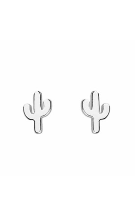 Sterling Silver Cactus Stud Earrings by Inscripture