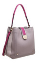 TRIPLE COLOUR HANDBAG IN PINK by BESSIE LONDON